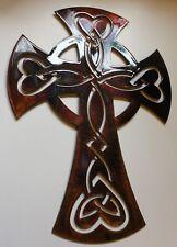 """Celtic Ornamental Cross  22"""" tall METAL WALL ART DECOR"""