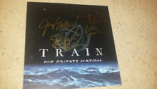 "* TRAIN * gold signed ""My Private Nation"" 12x12"" album flat by all four"