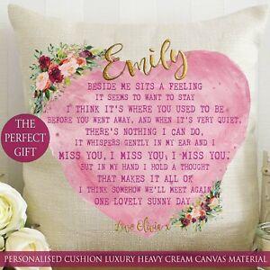 Personalised Cushion Isolation Gift Friend Hug Flower Sister Birthday Christmas