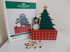 Kurt Adler Advent Calendar Tree Snowman Wood Ornaments New in opened box
