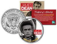 JAMES DEAN *TIMELESS LEGEND - GIANT MOVIE* Kennedy Half Dollar US Coin *LICENSED