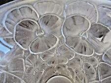 GORGEOUS JOSEPH INWALD BROLAC PANSY VASE SCULPTED SATIN 1930'S GR8 CONDITION!