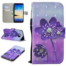 Cubierta de Cuero Abatible estilo Billetera Magnética Para Samsung Galaxy J4 J6 Plus A8 2018 S9 caso