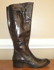 Born Womens Brown Leather Wide Calf Crown Roxie Tall Boots Size 6 M Retail $240
