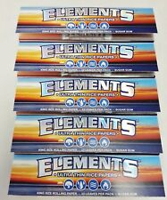 5 Packs Elements King Size Cigarette Rolling Papers 33 Per Pack Free Shipping