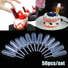 50pcs 4ml Pipettes Mini Clear Plastic Transfer Disposable Cupcake Squeeze Droppe