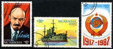 Nicaragua 1987 SG#2924-6 RIVOLUZIONE RUSSA usato CTO Set #A84719