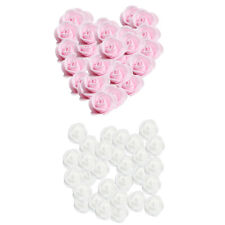 200 Wedding Flowers Foam Rose Heads Flower DIY Craft Kissing Ball Pink+White