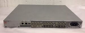 Brocade 300 8Gbps Fibre Channel FC SAN Switch 24 Active Ports 24 x 8Gb SFPs
