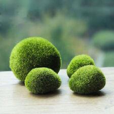 Green Artificial Moss Stones Grass Plant Poted Home Garden Decor Landscape Pop