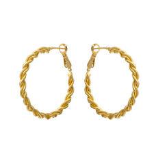 1 Pair Korean Jewelry 14K Yellow Gold Filled Large Round Hoop Earrings