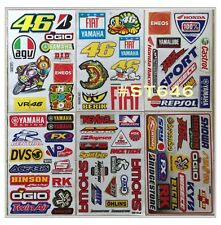 6 SHEET ATV CAR HELMET MOTO-GP SCOOTER BIKE RACING RC STICKERS #C646
