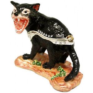 Tasmanian Devil Diamanti Decorated Trinket Box Figurine