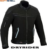 Impermeable Rider Softshell Impermeable Hombre Moto Textil Chaqueta de Cuero