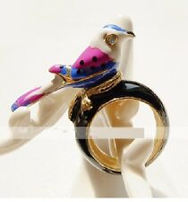 R30 Betsey Johnson Exquisite Singing Messenger Pigeon Bird Swallow Ring UK