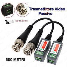 4 PEZZI Trasmettitore BALUN Cavo UTP CAT.5 Video Passivo 600 Metri CCTV DVR