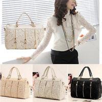 Hot Lace Handbag Vintage Women PU Leather Satchel Messenger Tote Shoulder Bags