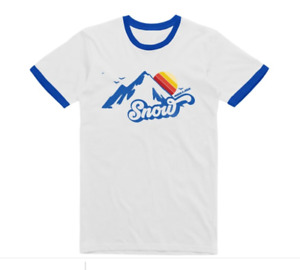 Angus And Julia Stone 70's Alp / Blue Ringer T-shirt Official XL