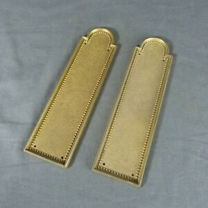 Set of 2 French Vintage Brass Push Door Plates