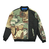 Mens 10 Deep Outside In Multi Camo Paneled Baseball Jacket