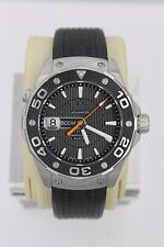 Tag Heuer Aquaracer Watch Mens 500M WAJ1110.FT6015 BLACK Rubber Professional Box
