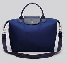 NWT Longchamp Le Pliage Neo Medium Travel Nylon Crossbody Bag NAVY Blue Satchel