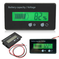 12V LCD Acid Lead Lithium Battery Capacity Indicator Voltage Tester Voltmeter #