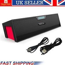 Potente Altavoz Portátil Inalámbrico Bluetooth Estéreo 10 W Soporte FM Alarma TF USB