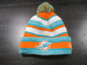 Miami Dolphins Beanie Hat Cap Green Orange Knit NFL Football New Era Mens