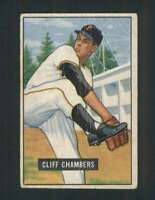 1951 Bowman #131 Cliff Chambers GVG Pirates 105533