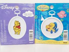 Janlynn Counted Cross Stitch Disney Flounder & Winnie The Pooh lot of 2