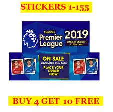 Topps Merlin's Premier League Season 2019 Single Stickers 1-155 (2018)