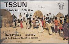 RD0257 Somalia - Mogadishu - Kent Phillips - T53UN - QSL Radio Card