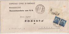 ITALIA 1948 COPPIA10L DEMOCRATICA RACCOMANDATA MANOSCRITTI DA GENOVA X USCIO