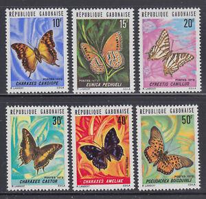 Gabon 1973 Butterflies  Sc  305-310  mint never hinged
