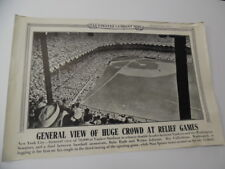 1942 Illustrated Current News Poster Babe Ruth Walter Johnson Baseball Duel WWII