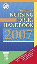 Saunders Nursing Drug Handbook 2007 by Robert J. Kizior Brand NEW w/CD