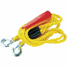 4m Heavy Duty Tow Towing Pull Rope Strap Cable Hooks Car Vehicle Road Recovery