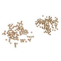200pcs Fly Tying Head Beads Fly Fishing Nymph Head Ball Beads 2.8mm 2.3mm
