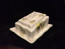 James Kent Old Foley Pansy Design Cheese Dish