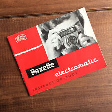 BRAUN *PAXETTE ELECTROMATIC* FILM CAMERA USER / INSTRUCTION MANUAL / GUIDE.