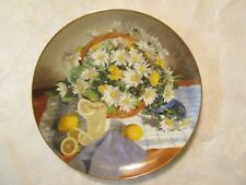 W.L. George Collector Plate- Daisies (Flowers in Your Garden Series) 1988