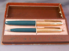 Parker 21 Dark Green barrel Gold Cap Set--fine point