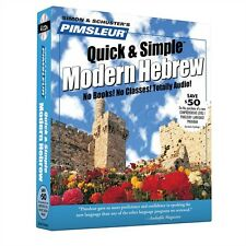 New 4 CD Pimsleur Learn to Speak Hebrew Language