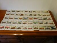 A COLLECTION of 50 'CARDS' of VARIOUS MOTOR CARS from 1828 to 1956 :each 87x87mm