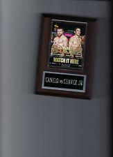CANELO ALVAREZ vs JULIO CESAR CHAVEZ JR POSTER PLAQUE BOXING PHOTO PLAQUE