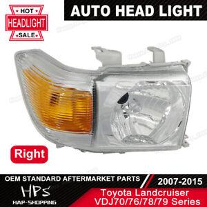 New Headlight For Toyota 70 series Landcruiser VDJ76 VDJ78 VDJ79 07-Onwards RH