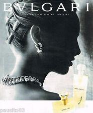 PUBLICITE ADVERTISING 065  1997  BULGARI  jaoillier parfum femme