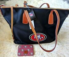 Dooney & Bourke San Francisco 49ers NFL ZIp nylon Tote with ID holder  NWT