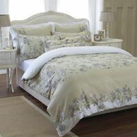 100% Egyptian Cotton Amaryllis Duvet Cover Set 250 Thread Count Bedding Double